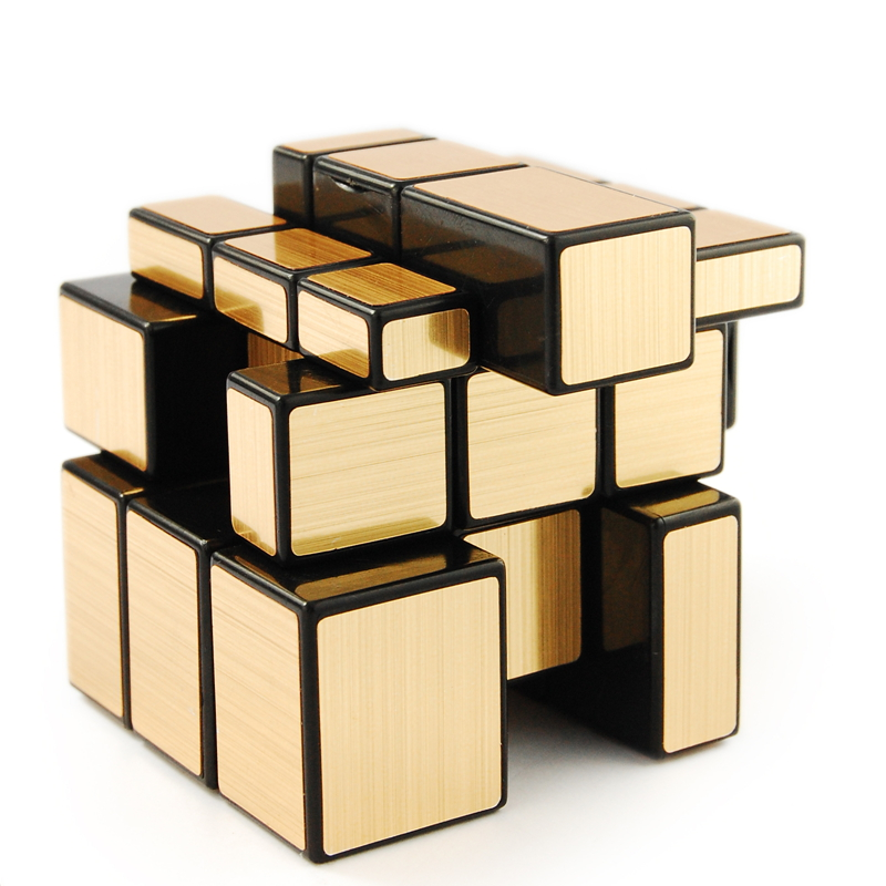 Shengshou golden mirror 3x3 speed cube magic puzzle black for Mirror rubik s cube