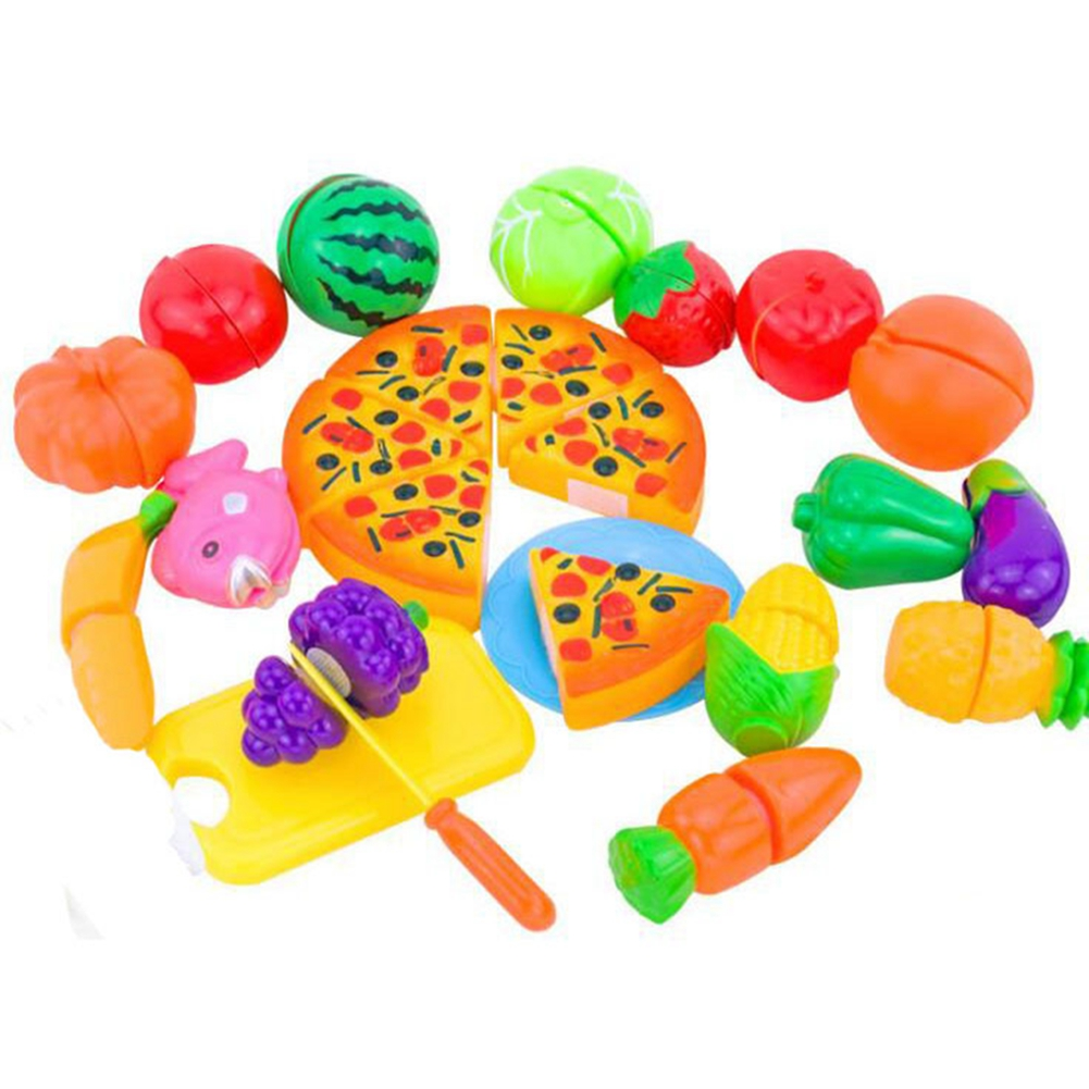 Play Food Toys : Pcs pretend role play kitchen pizza fruit vegetables